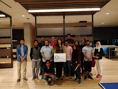 University of Texas at Austin KGSP Foundation Year students with their KGSP advisor